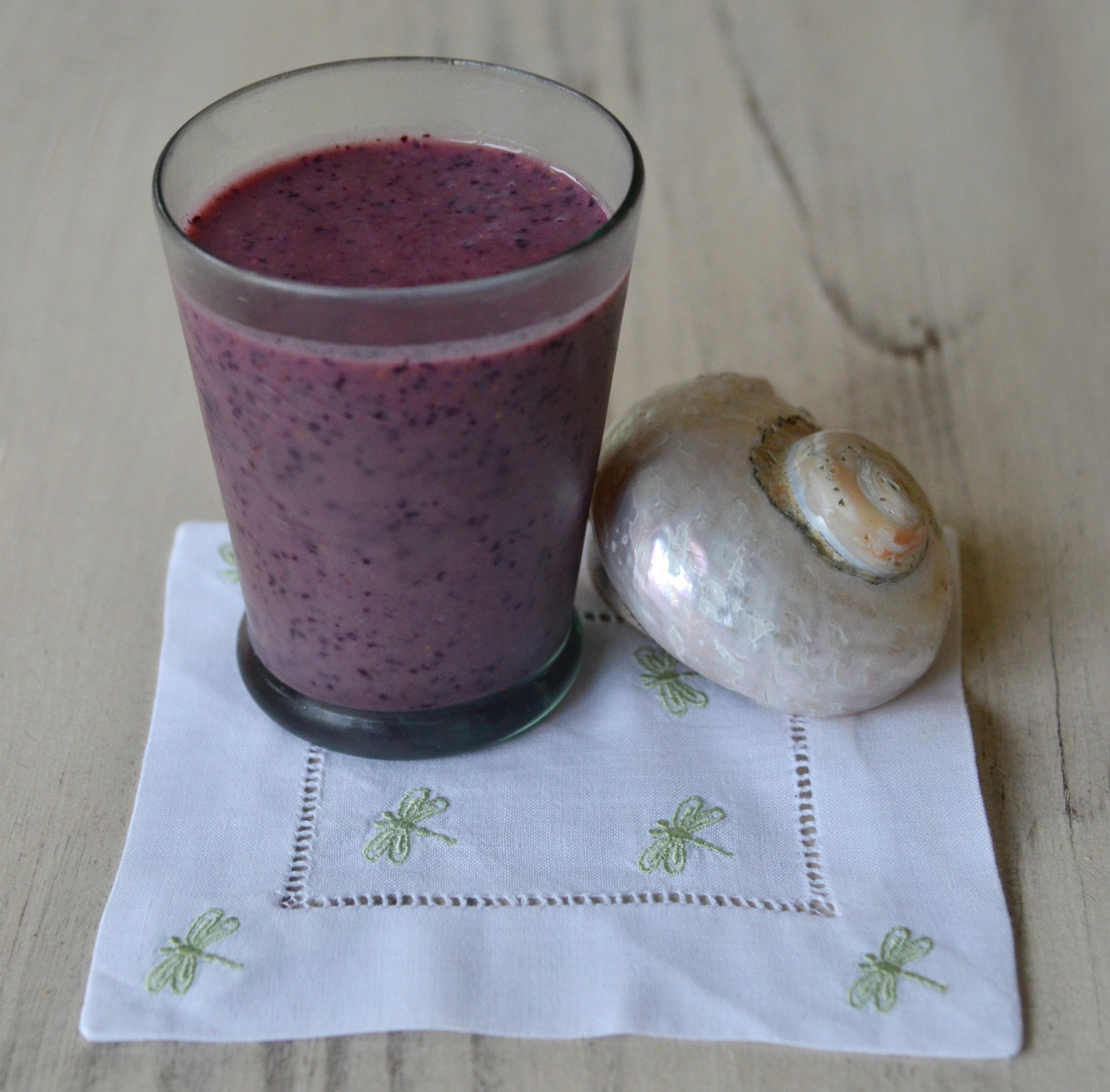 blueberry pom protein smoothie pm